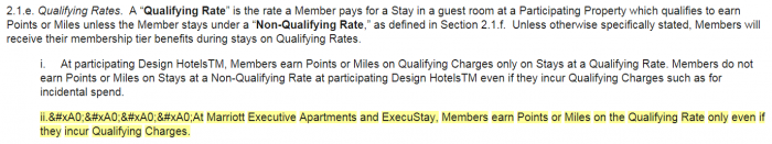 Marriott Rewards Terms & Conditions Update November 2018 Qualifying Rates