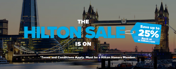 PREVIEW Hilton Honors Europe Middle East & Africa Sale