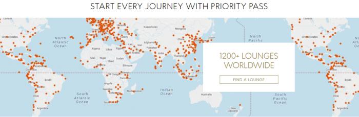 Priority Pass Map