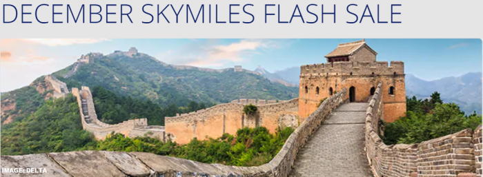 Delta Air Lines SkyMiles December Flash Sale Asia