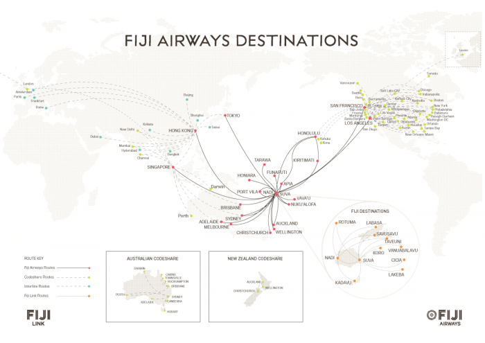 Fiji Airways Destinations