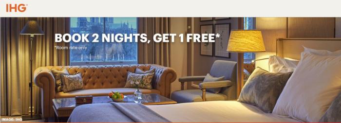 IHG Rewards Club UK Luxury Free Night Offer