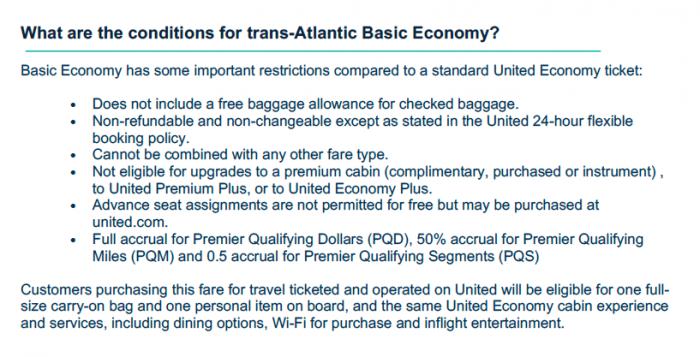 United Basic Economy No Upgrades