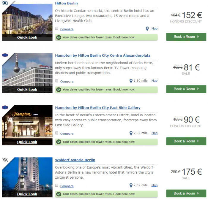 Hilton EMEA Sale Last Call Cities Berlin