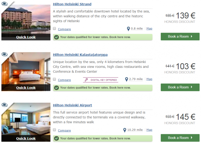 Hilton EMEA Sale Last Call Cities Helsinki