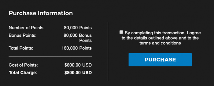 Hilton Honors Buy Points January 2019 Price