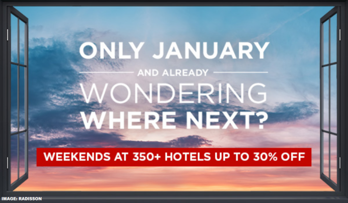 Radisson Rewards Weekends Sale January 2019