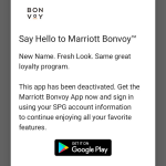 Marriott Bonvoy App