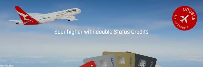 Qantas Double Status Credits February 2019