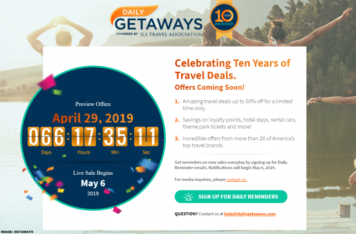 U.S. Travel Association Daily Getaways