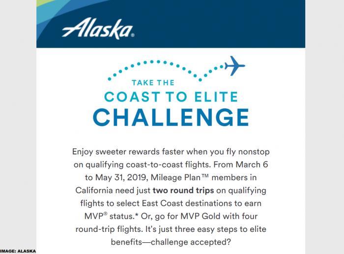 Alaska Airlines Mileage Plan Coast To Coast Challenge