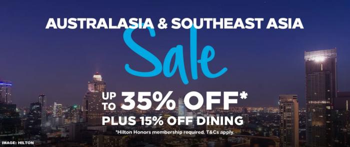 Hilton Honors Australia & South East Asia Flash Sale March 2019