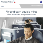 American Airlines AAdvantage Double Miles Offer Spring 2019