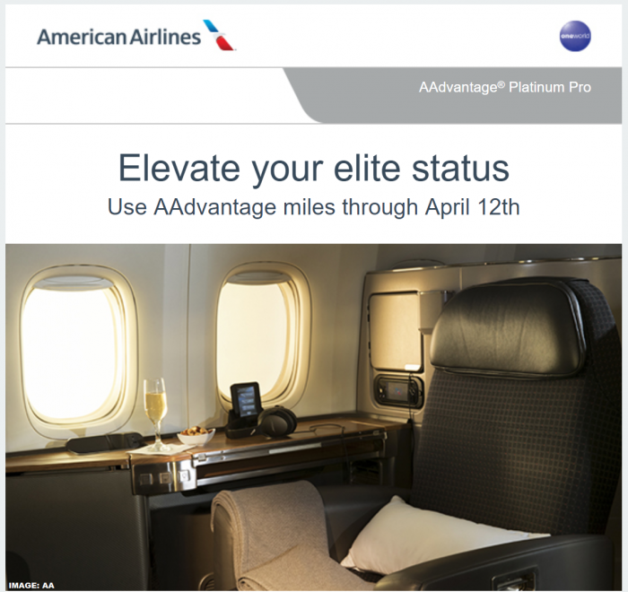 American Airlines AAdvantage Elevate Status