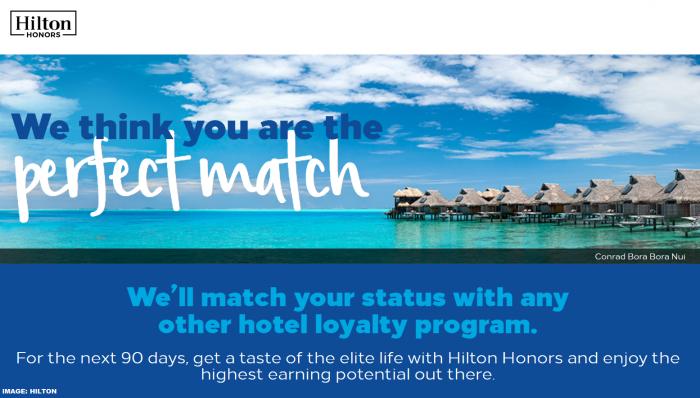 Hilton Honors Diamond Status Match