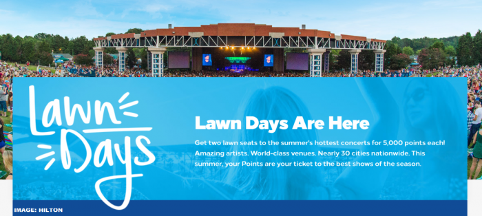 Hilton Honors Brings Back Lawn Days + Sweepstakes | LoyaltyLobby