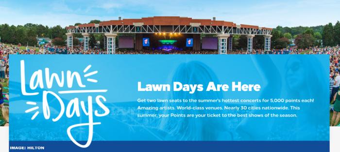 Hilton Honors Lawn Days Main