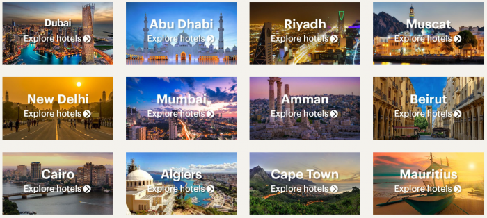 IHG Rewards Club India Middle East & Africa 50% Off Flash Sale May 2019 Destinations