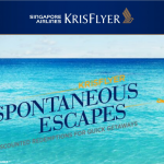 Singapore Airlines KrisFlyer Spontaneous Escapes May 2019