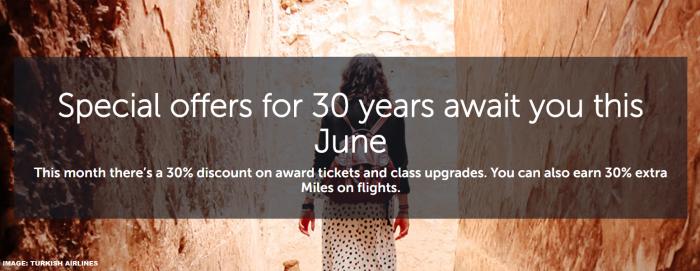 Turkish Airlines Miles&Smiles June 2019 Specials