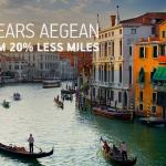 Aegean Miles+Bonus 20% Discount June 2019