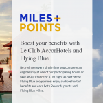 Le Club AccorHotels & Air France-KLM Flying Blue Miles+Points