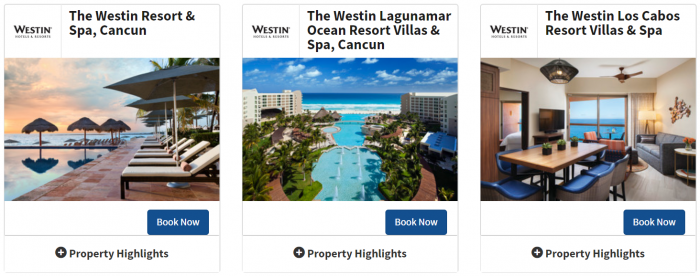 Marriott Bonvoy Mexico Westin Fall 2019 Sale Properties