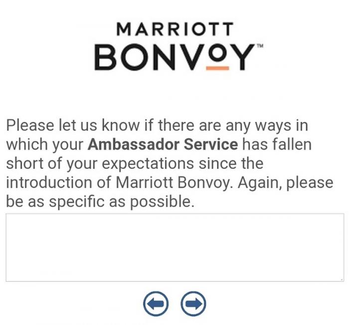 Marriott Bonvoy Ambassador Survey Screen 5