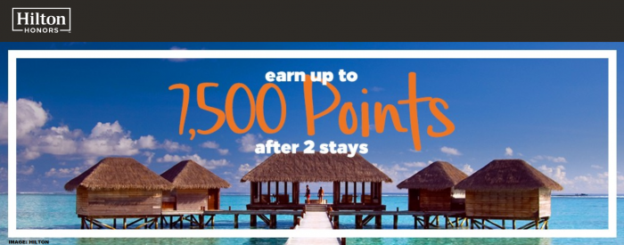 Hilton Honors 7,500 Bonus Points