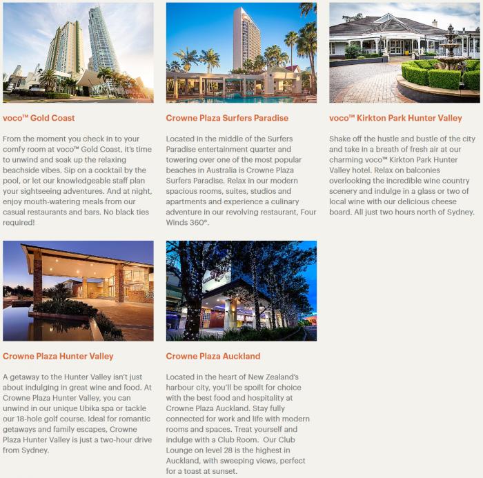 IHG Rewards Club New Zealand & Australia Offer Hotels