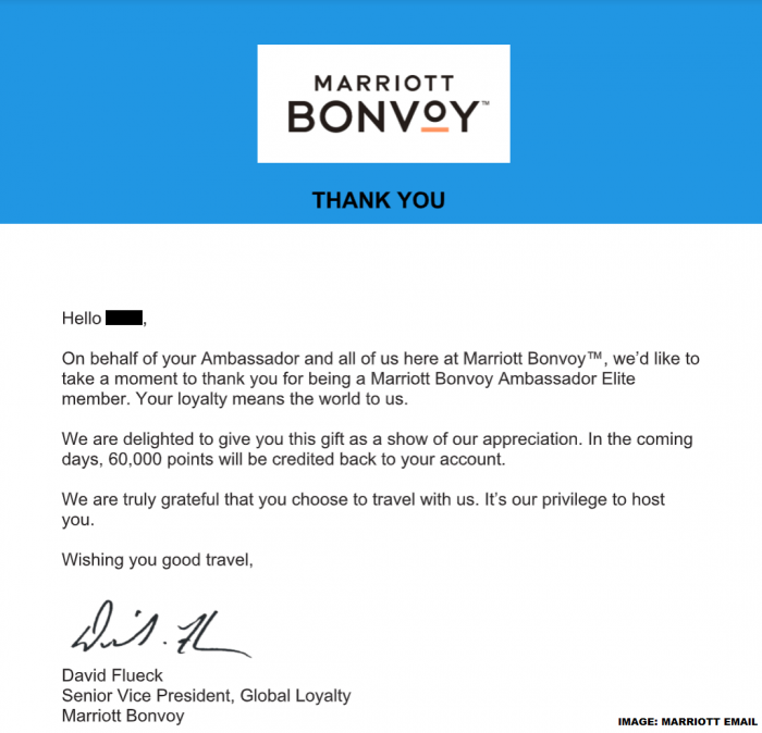Marriott Bonvoy Surprise & Delight-Letter
