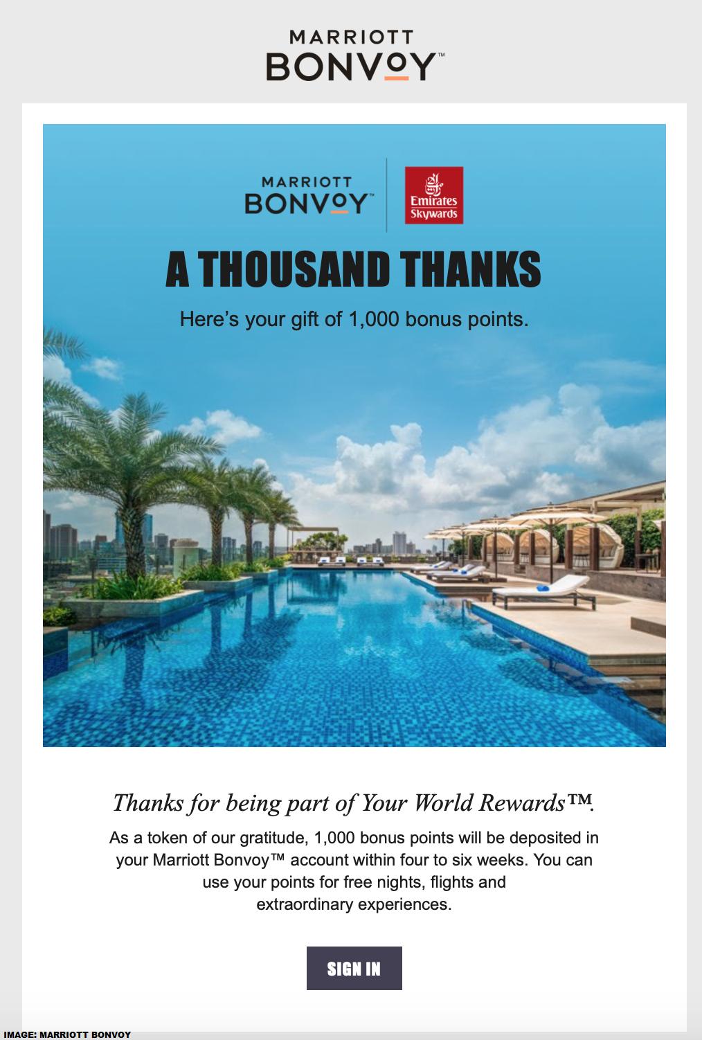 Marriott Bonvoy Emirates Your World Rewards