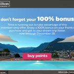 Hilton Honors Buy Points Last Call December 2019