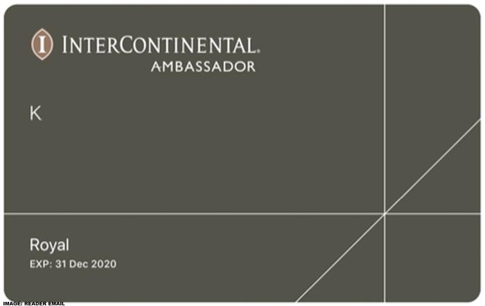 Intercontinental Royal Ambassador Renewals U