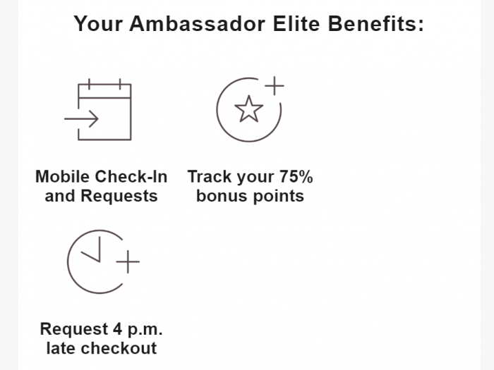 Marriott Bonvoy Mobile Check In Bonus Ambassador Benefits
