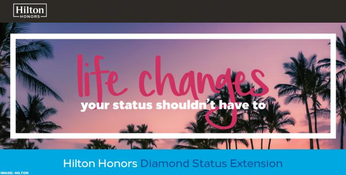 Hilton Honors Diamond Status Extension 2020