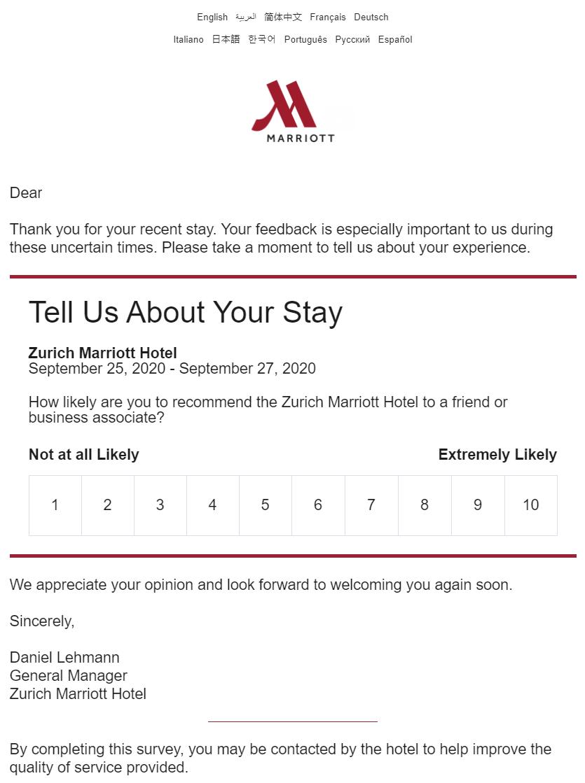 Compensation Clinic Marriott Zurich Loyaltylobby